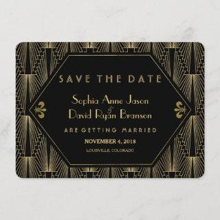 Roaring 20s Great Gatsby Art Deco Save The Date