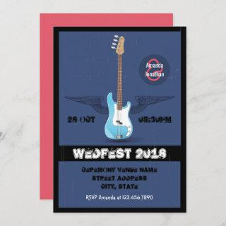 Rock and Roll Wedding customized Invitations