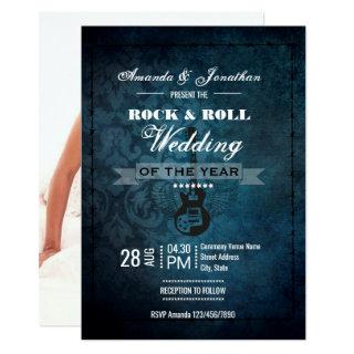 Rock n Roll Retro Vintage Wedding Photo Invitations