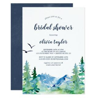 Rocky Mountain Bridal Shower Invitations