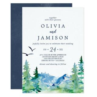 Rocky Mountain Casual Destination Wedding Invitation