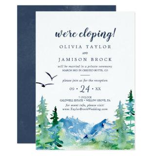 Rocky Mountain Destination Elopement Reception Invitation
