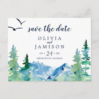 Rocky Mountain Destination Save the Date Postcard