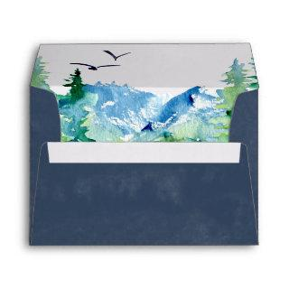 Rocky Mountain Destination Wedding Invitations Envelope
