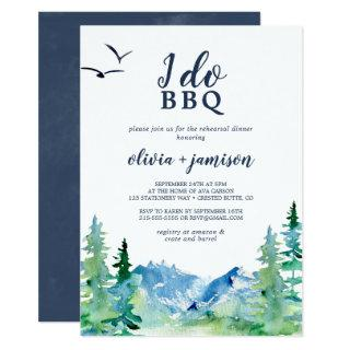 Rocky Mountain I Do BBQ Rehearsal Dinner Invitations