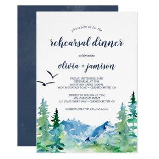 Rocky Mountain Rehearsal Dinner Invitation
