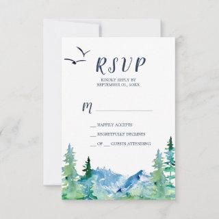Rocky Mountain Simple RSVP Card