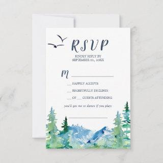 Rocky Mountain Song Request RSVP Card
