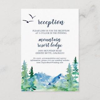Rocky Mountain Wedding Reception Insert Card