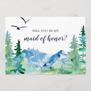 Rocky Mountain Will You Be My Maid of Honor Card
