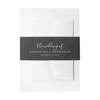 Romance Gray The Wedding Of Invitations Belly Band