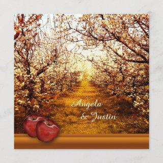 Romantic Apple Orchard Wedding Invitations