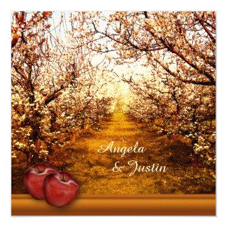 Romantic Apple Orchard Wedding Invitation