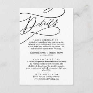 Romantic Calligraphy Details Enclosure Card