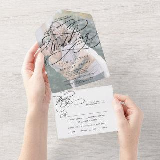 Romantic Calligraphy | Faded Photo The Wedding Of All In One