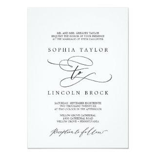 Romantic Calligraphy | Flourish Formal Wedding Invitation