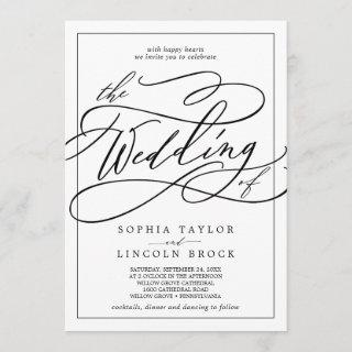 Romantic Calligraphy | Frame The Wedding Of Invitations