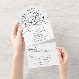 Romantic Calligraphy The Wedding Of All In One