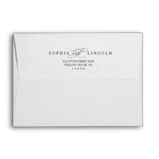 Romantic Calligraphy Wedding Invitation Envelope