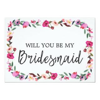 Romantic Fairytale Will You Be My Bridesmaid Invitations