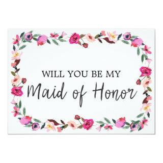 Romantic Fairytale Will You Be My Maid of Honor Invitation