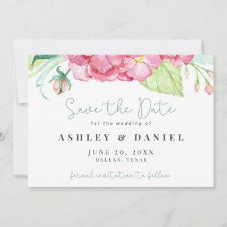 Romantic Floral Watercolor Wedding Save The Date