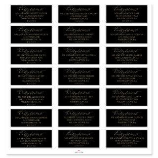 Romantic Gold and Black Guest Address Labels