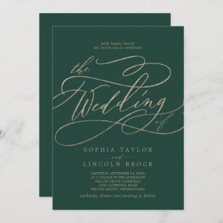 Romantic Green Calligraphy All In One Wedding