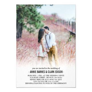 Romantic Minimalist Photo Wedding Magnetic Invitations