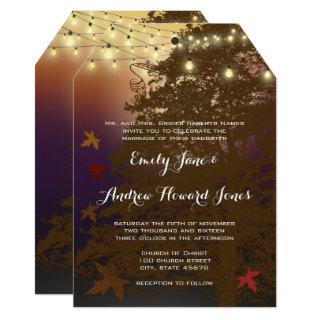 Romantic Tree Under the Stars Forest Wedding Invitations