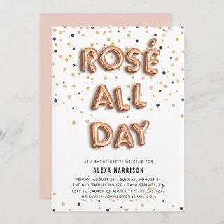 Rosé All Day Bachelorette Weekend Invitations