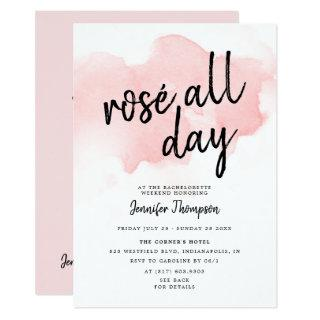 Rose All Day Bachelorette Weekend Itinerary Invitation