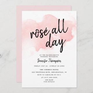 Rose All Day Bachelorette Weekend Itinerary Invitations