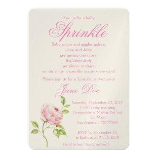 Rose Baby Invitations