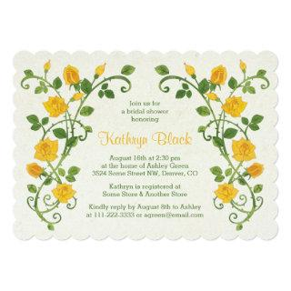 Rose Bridal Shower Invitation | Yellow Watercolor
