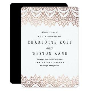 Rose Gold Delicate Wedding Invitations