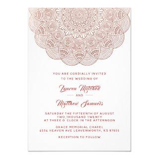 Rose Gold Mandala Wedding Invitation
