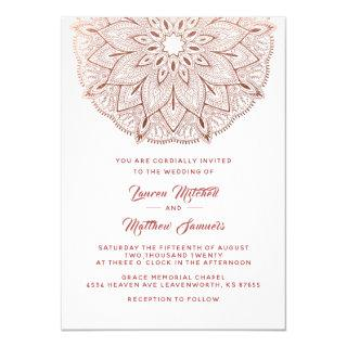Rose Gold Mandala Wedding Invitations