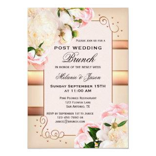 Rose Peonies Post Wedding Brunch Invitations