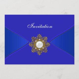 Royal Blue All Occasion Party Invitation
