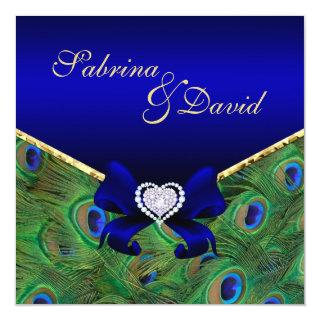 Royal Blue Peacock Wedding Invitations