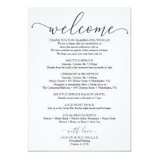 Royal Script Wedding Itinerary - Wedding Welcome Invitations