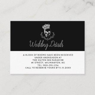 Royal Skull Wedding Details Enclosure Card