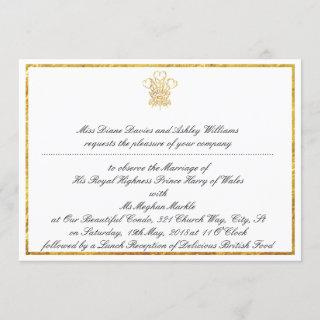 Royal Wedding Watch Party Invitation | London UK