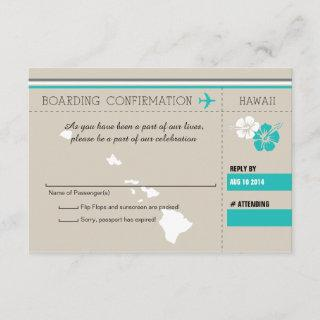 RSVP Boarding Pass TO HAWAII