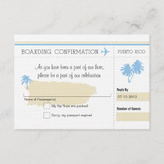RSVP Boarding Pass TO Puerto Rico
