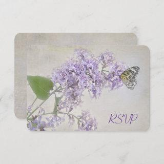 RSVP Butterfly on Lilacs Invitations