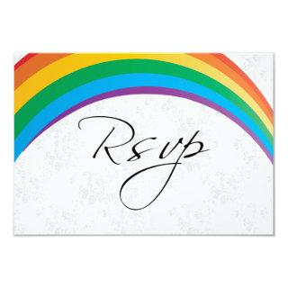 RSVP Card Rainbow Gay Wedding
