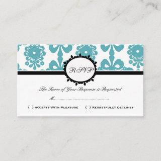 RSVP Damask Vintage Custom Wedding Response Card