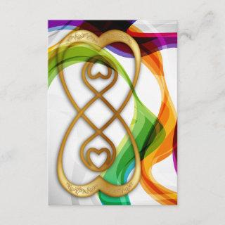 RSVP Hearts Double Infinity & Rainbow Ribbons - 3